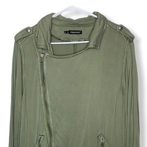 Maurices army green soft asymmetrical jacket plus